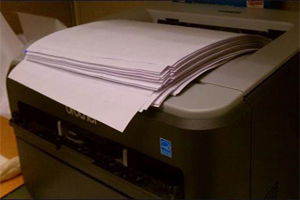 Printing the documents at the office